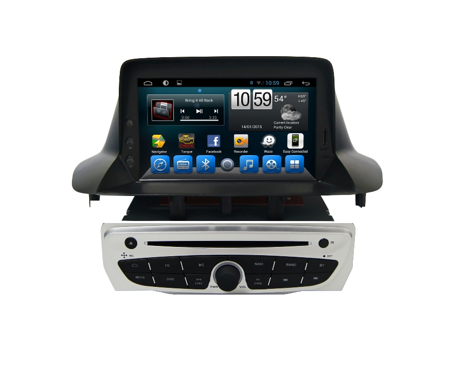 autoradio gps wifi dvd cd bluetooth usb sd pour renault megane 3 et fluence avec casquette. Black Bedroom Furniture Sets. Home Design Ideas