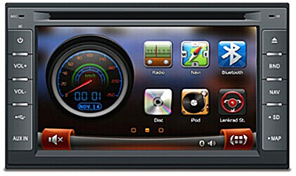 Station Multimédia Mobile AGW92 HD GPS DIVX DVD MP3 USB SD RDS Bluetooth DSP IPOD PIP avec menu 3D (Windows processeur 1GHZ)