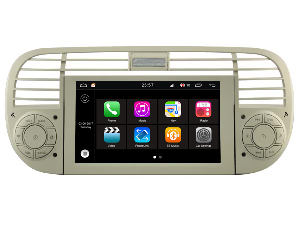 Autoradio AGW92 GPS WIFI DVD CD Bluetooth USB SD pour FIAT 500 et ABARTH (processeur 2GHZ)