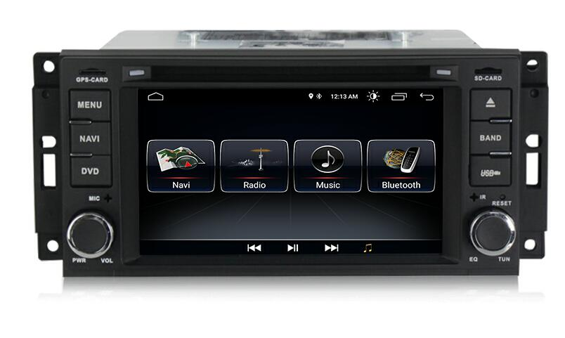Autoradio AGW92 GPS WIFI DVD CD Bluetooth USB SD pour CHRYSLER 300c Pt Cruiser et DODGE Ram et JEEP Grand Cherokee (Android 8.1 processeur 2GHZ)