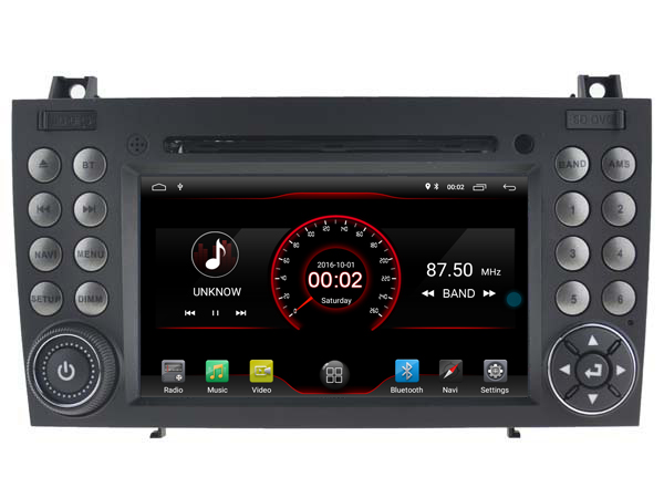Autoradio AGW92 GPS WIFI DVD CD Bluetooth USB SD pour MERCEDES SLK (processeur 2GHZ)