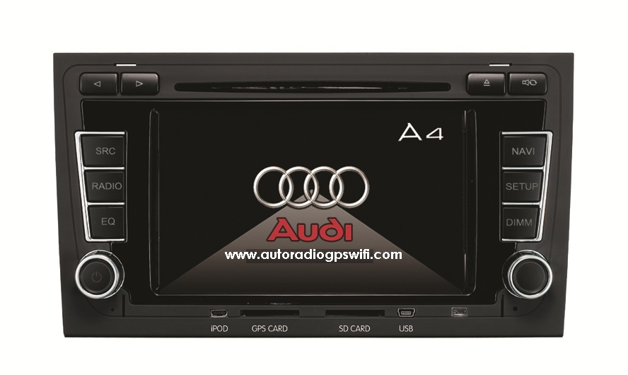 Autoradio AGW92 GPS DVD CD Bluetooth USB SD pour AUDI A4 S4 RS4 (processeur 1GHZ)