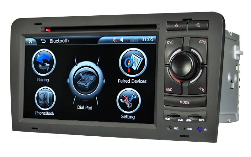 Autoradio AGW92 GPS DVD CD Bluetooth USB SD pour AUDI A3 S3 RS3 (processeur 1GHZ)
