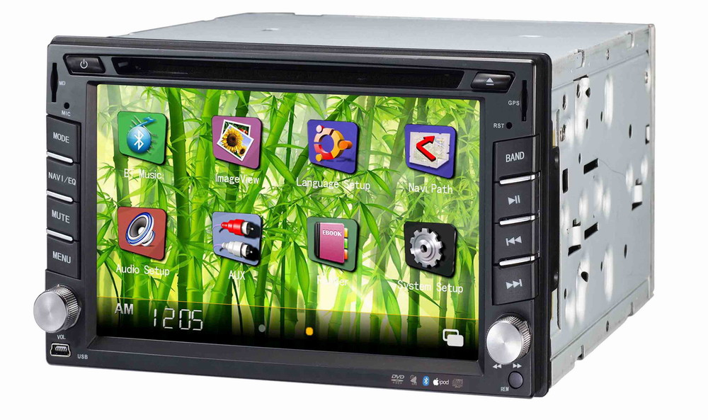 Autoradio AGW92 GPS WIFI DVD CD Bluetooth USB SD 2DIN double emplacement universel (processeur 1.2GHZ)
