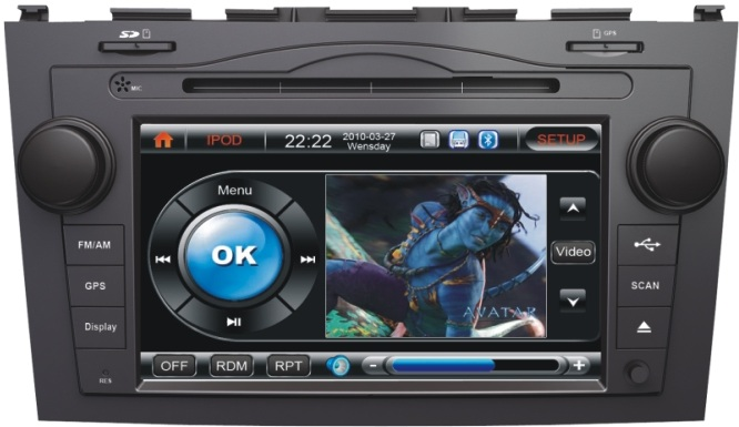 Autoradio AGW92 GPS DVD CD Bluetooth USB SD pour HONDA CRV (processeur 1GHZ)