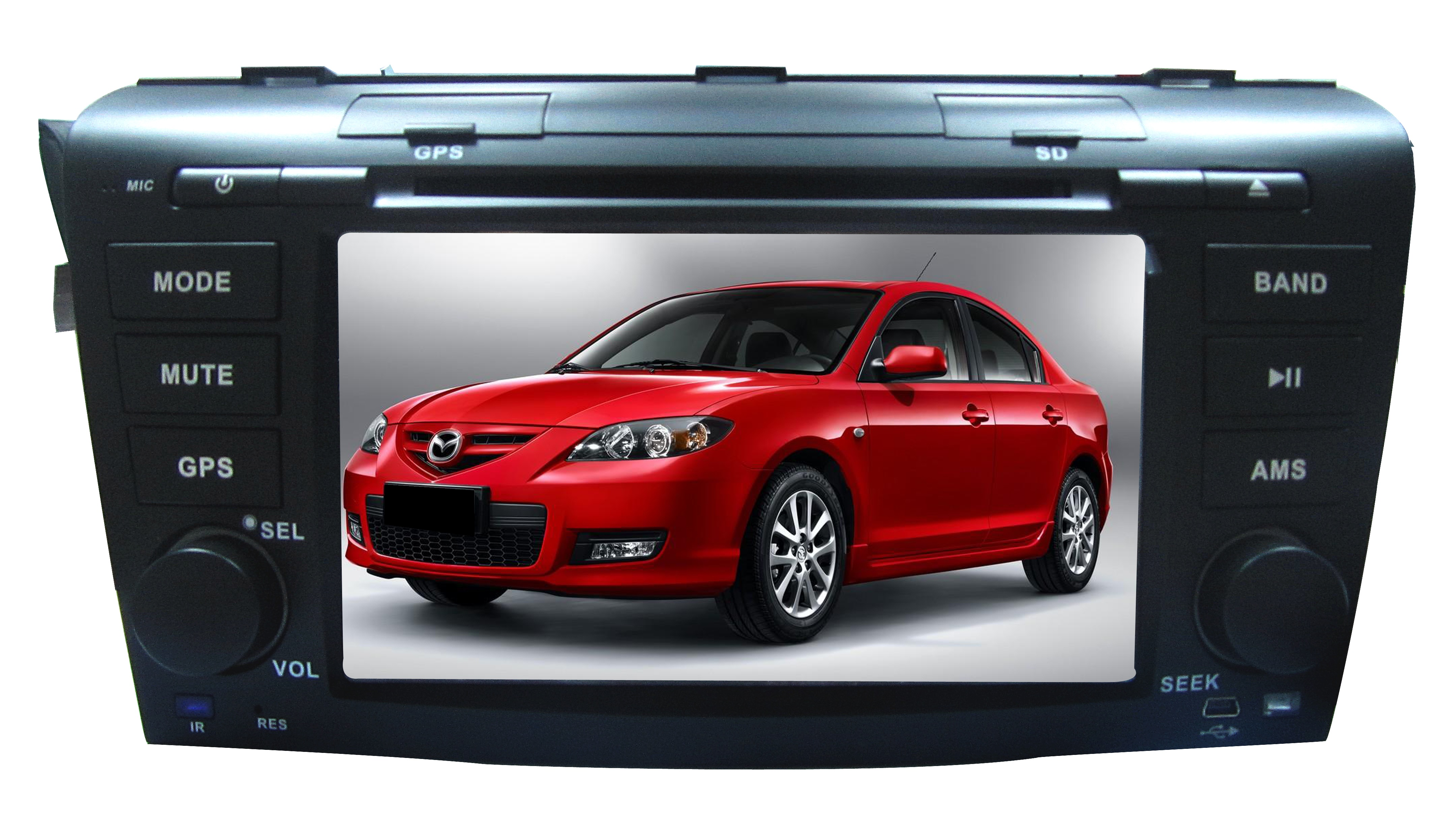 Autoradio GPS WIFI DVD CD Bluetooth USB SD pour MAZDA 3 (Windows processeur 1GHZ)