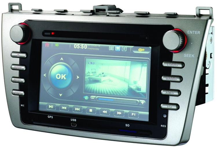 Autoradio GPS WIFI DVD CD Bluetooth USB SD pour MAZDA 6 (Windows processeur 1GHZ)