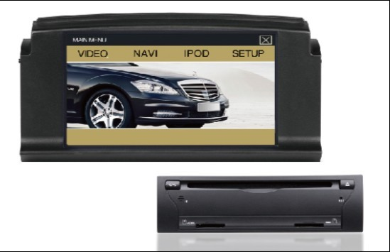 Autoradio HD GPS DIVX DVD PIP MP3 USB SD TV RDS IPOD avec CAN BUS pour Mercedes Classe C