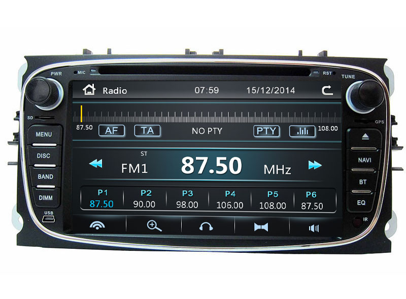 Autoradio AGW92 GPS DVD CD Bluetooth USB SD pour FORD Mondeo S-Max Focus C-Max Galaxy (processeur 1GHZ)