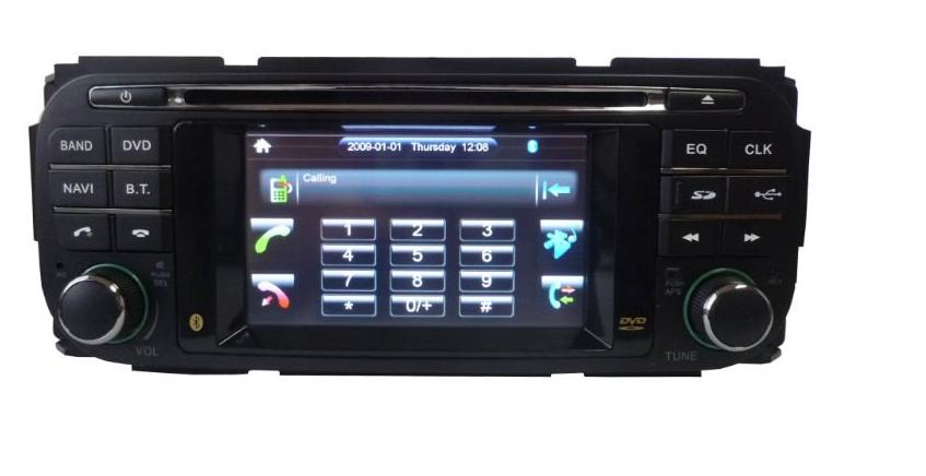 Autoradio AGW92 GPS DVD CD Bluetooth USB SD pour CHRYSLER Grand Voyager PT Cruiser Sebring Stratus & DODGE Durango Ram & JEEP Grand Cherokee Wrangler (processeur 1.5GHZ)