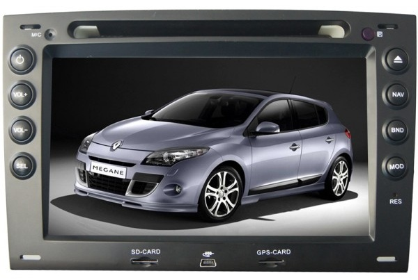 Autoradio AGW92 GPS DIVX DVD MP3 USB SD RDS Bluetooth IPOD PIP disque dur 2 Go avec CAN BUS pour Renault Mégane 2 & 3 2003 à 2008
