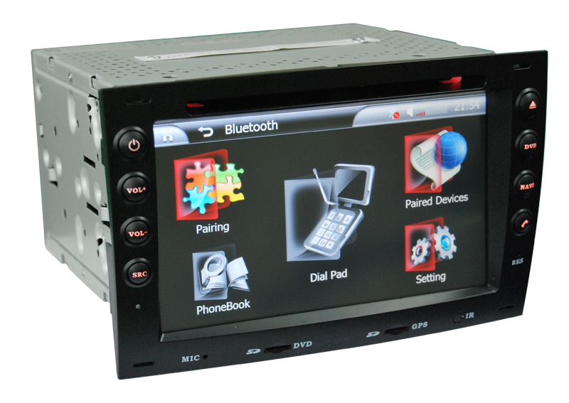 Autoradio AGW92 GPS WIFI DVD CD Bluetooth USB SD pour RENAULT Megane 2 (Android processeur 2GHZ)