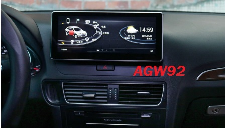 Autoradio AGW92 GPS WIFI DVD CD Bluetooth USB SD pour AUDI Q5 & SQ5 (processeur 2GHZ)