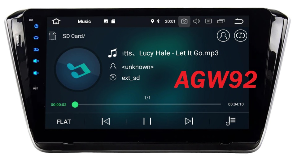 Autoradio AGW92 GPS WIFI DVD CD Bluetooth USB SD pour SKODA Superb (Android 8.1 processeur 2GHZ)