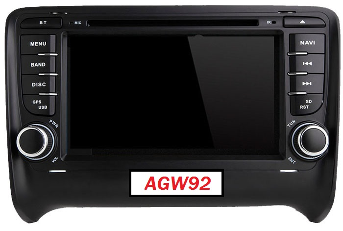 Autoradio AGW92 GPS DVD CD Bluetooth USB SD pour AUDI TT (processeur 1GHZ)