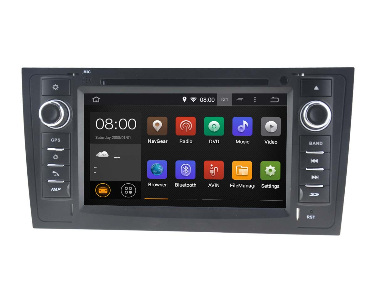 Autoradio AGW92 GPS WIFI DVD CD Bluetooth USB SD pour AUDI A6 (processeur 2GHZ)