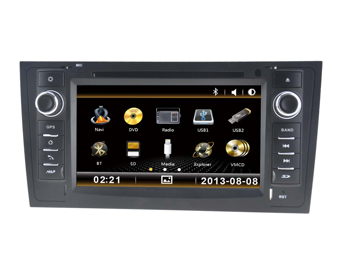 Autoradio 7 pouces HD GPS DIVX DVD PIP MP3 USB micro SD RDS Bluetooth IPOD avec CAN BUS pour Audi A6
