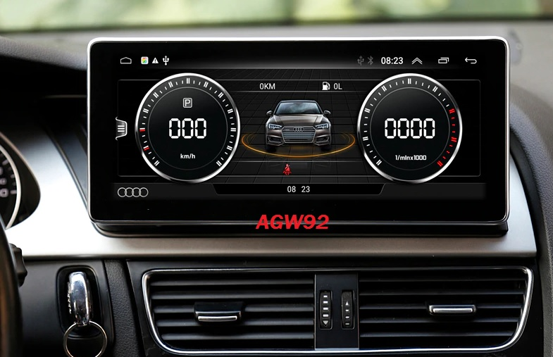 Autoradio AGW92 GPS WIFI DVD CD Bluetooth USB SD pour AUDI A4 A5 (processeur 2GHZ)
