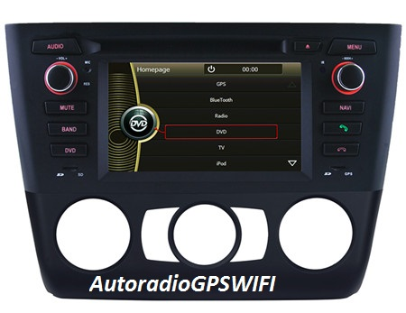Autoradio AGW92 GPS WIFI DVD CD Bluetooth USB SD pour BMW série 1 E81 E82 E87 E88 (processeur 2GHZ)