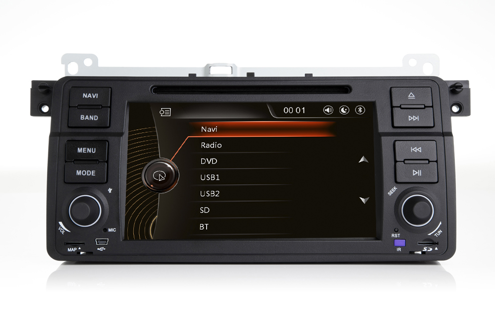Autoradio AGW92 GPS WIFI DVD CD Bluetooth USB SD pour BMW E46 série 3 et M3 (Windows processeur 1GHZ)