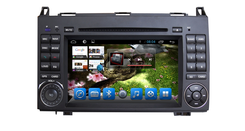 Autoradio AGW92 GPS WIFI DVD CD Bluetooth USB SD pour VOLKSWAGEN Crafter et LT3 (Android processeur 2GHZ)