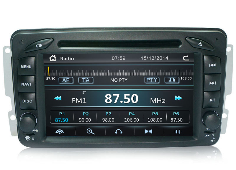 Autoradio GPS WIFI DVD CD Bluetooth USB SD pour MERCEDES Vaneo Viano Vito Classe E C A G SLK CLK M ML (Android processeur 2GHZ)