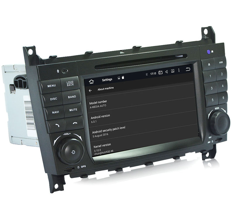 Autoradio AGW92 GPS WIFI DVD CD Bluetooth USB SD pour MERCEDES CLC CLK CLS et classe C G (Windows processeur 1GHZ)