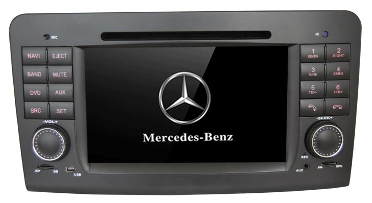 Autoradio AGW92 GPS WIFI DVD CD Bluetooth USB SD pour MERCEDES Classe R (Android 8.1 processeur 2GHZ)