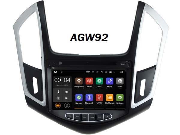 Autoradio AGW92 GPS WIFI DVD CD Bluetooth USB SD pour CHEVROLET Cruze (Android 8.1 processeur 2GHZ)