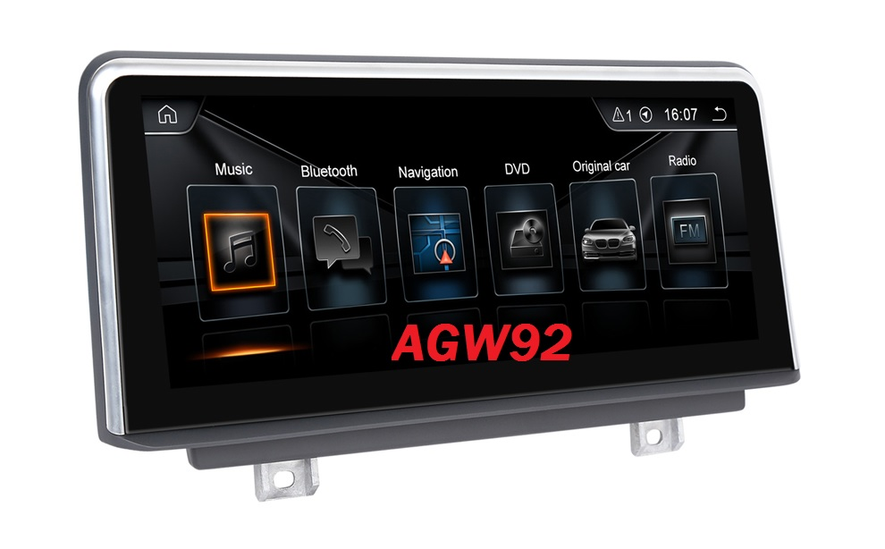Autoradio AGW92 GPS WIFI DVD CD Bluetooth USB SD pour BMW série 2 F22 F45 (Android 8.1 processeur 2GHZ)