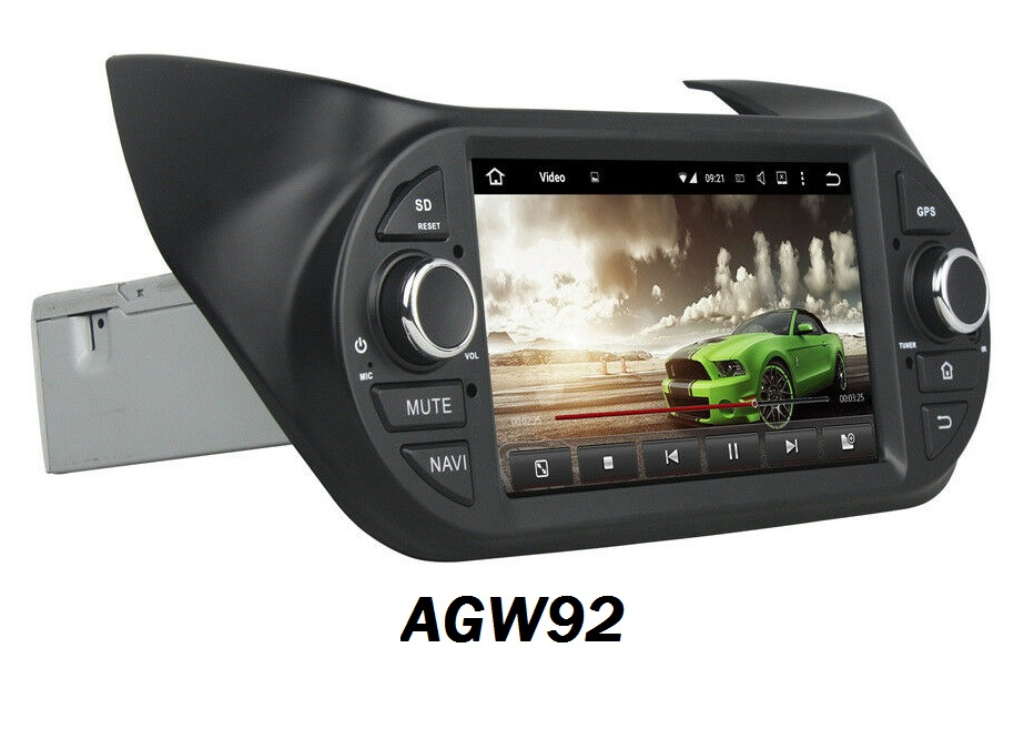 Autoradio AGW92 GPS WIFI DVD CD Bluetooth USB SD pour PEUGEOT Bipper (processeur 2GHZ)