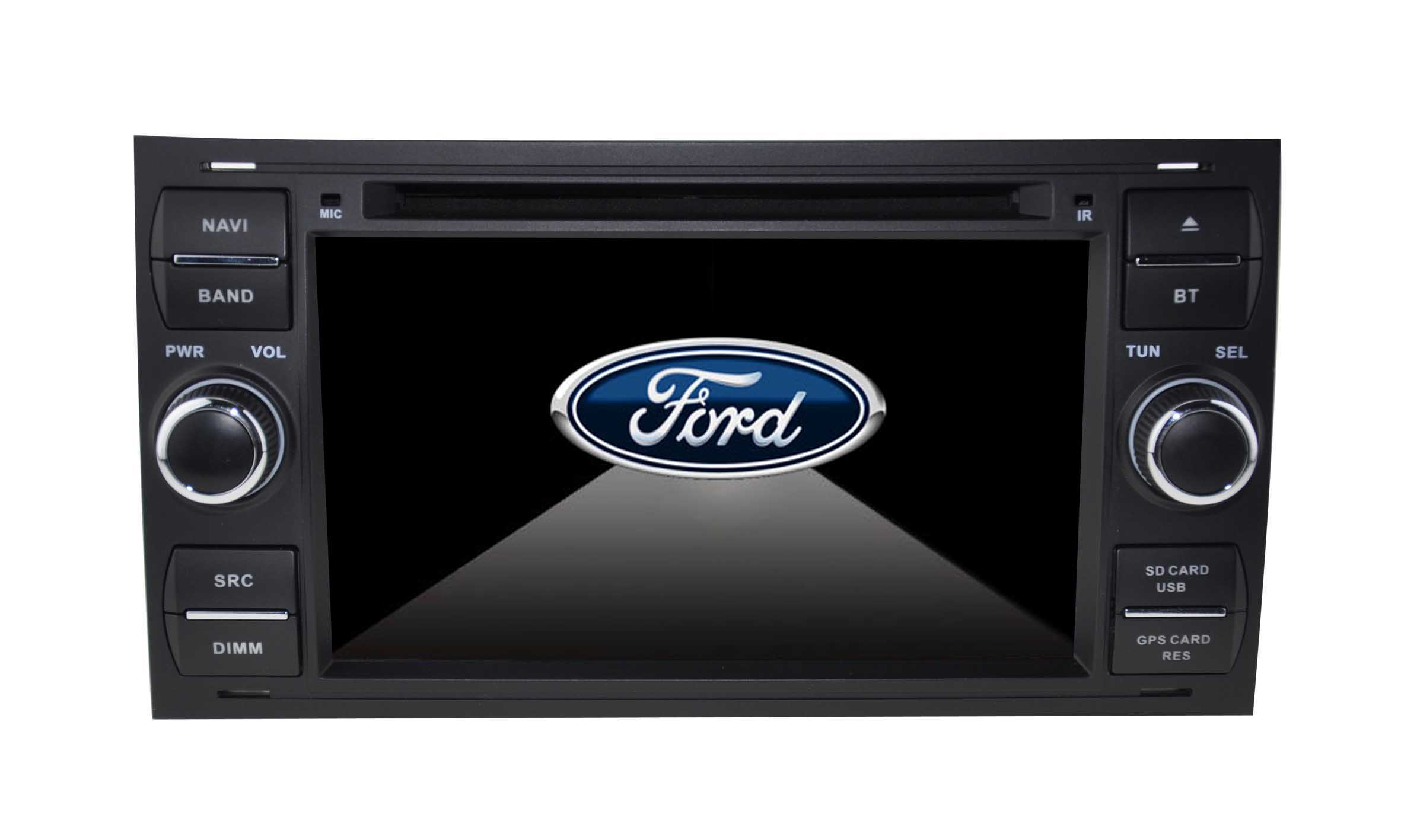 Autoradio GPS WIFI DVD CD Bluetooth USB SD pour Ford Kuga Focus C-Max Fiesta Fusion Galaxy Transit (Windows processeur 1GHZ)