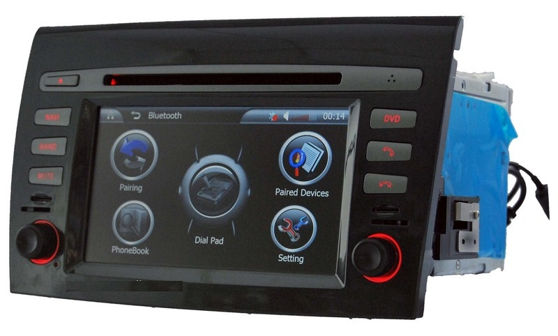 Autoradio AGW92 GPS WIFI DVD CD Bluetooth USB SD pour FIAT Bravo (Windows processeur 1GHZ)