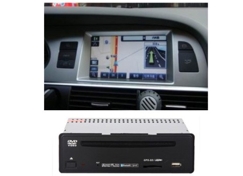 Autoradio AGW92 GPS DVD CD Bluetooth USB SD pour AUDI A6 A8 Q7 (processeur 1GHZ)