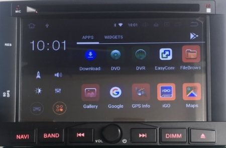 Autoradio AGW92 GPS WIFI DVD CD Bluetooth USB SD pour PEUGEOT 3008 et 5008 (Android 8.1 processeur 2GHZ)