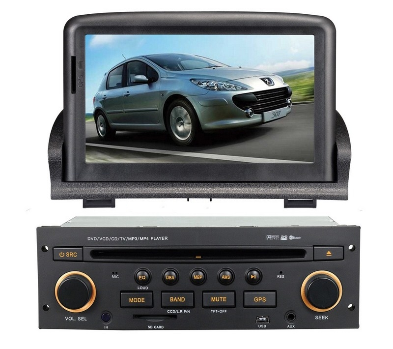 Autoradio AGW92 GPS WIFI DVD CD Bluetooth USB SD pour PEUGEOT 307 (processeur 2GHZ)