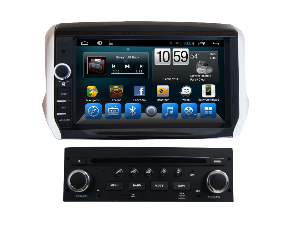 autoradio gps wifi dvd cd bluetooth usb sd pour peugeot. Black Bedroom Furniture Sets. Home Design Ideas