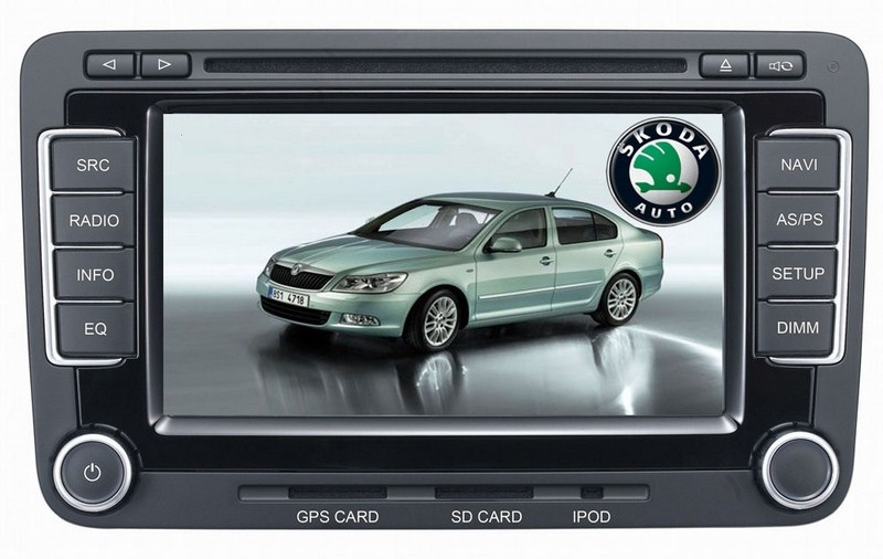 Autoradio AGW92 GPS WIFI DVD CD Bluetooth USB SD pour SKODA Octavia Fabia Yeti et Roomster (Windows processeur 1GHZ)