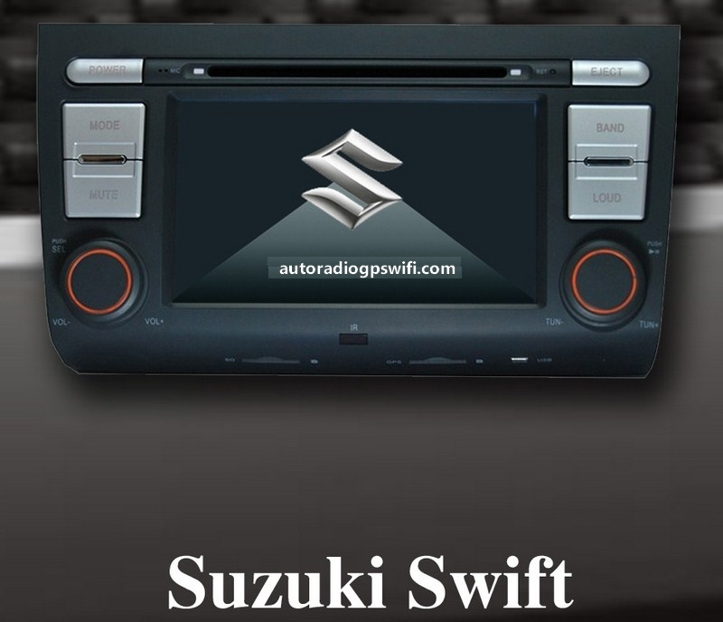 Station Multimédia Mobile Autoradio HD GPS DIVX DVD MP3 USB Bluetooth PIP disque dur 2 Go avec CAN BUS pour Suzuki Swift