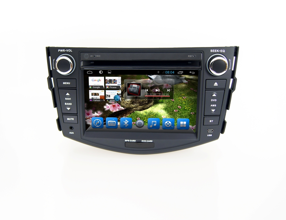 Autoradio AGW92 GPS WIFI DVD CD Bluetooth USB SD pour TOYOTA Rav 4 (Android 8.1 processeur 2GHZ)