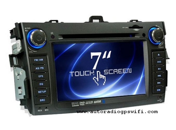 Station Multimédia Mobile Autoradio HD GPS DIVX IPOD DVD MP3 USB SD RDS Bluetooth PIP disque dur 2 Go avec CAN BUS pour Toyota Corolla
