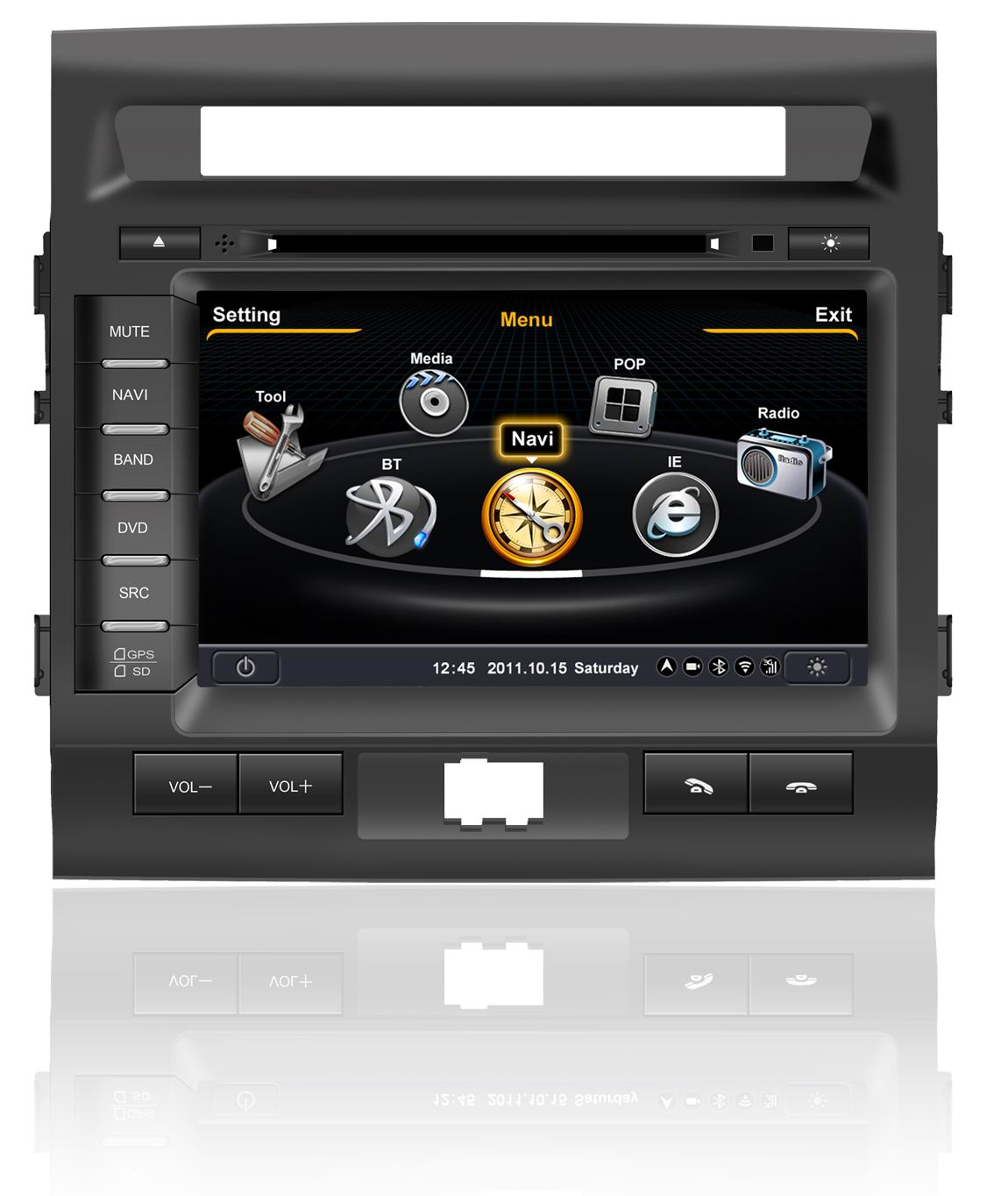 Autoradio AGW92 GPS DVD CD Bluetooth USB SD 8 pouces pour TOYOTA Land Cruiser (processeur 1GHZ)