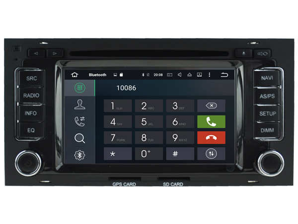 Autoradio AGW92 GPS WIFI DVD CD Bluetooth USB SD pour VOLKSWAGEN Touareg Multivan Transporter T5 (Android processeur 2GHZ)