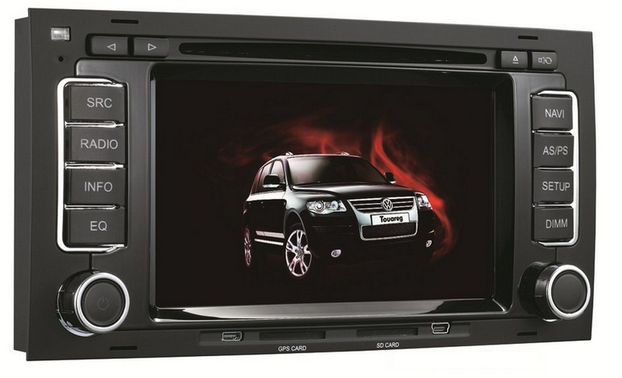 Autoradio HD GPS DIVX DVD MP3 USB SD PIP RDS Bluetooth IPOD avec CAN BUS pour Volkswagen Multivan et Touareg