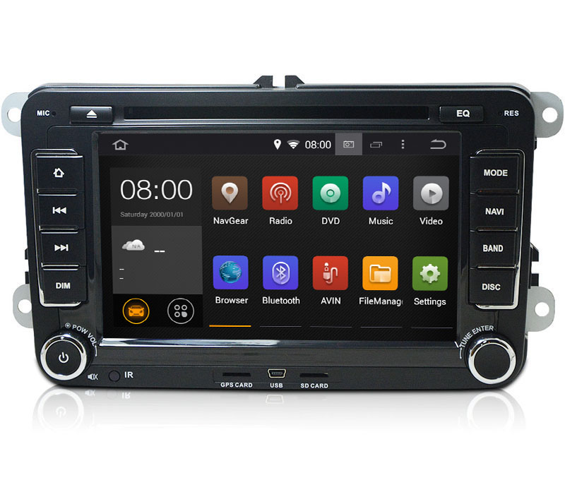 Autoradio AGW92 GPS WIFI DVD CD Bluetooth USB SD pour VOLKSWAGEN Scirocco Golf 5 6 Polo Passat B6 CC Jetta Tiguan Touran Sharan Eos Caddy (Android 8.1 processeur 2GHZ)