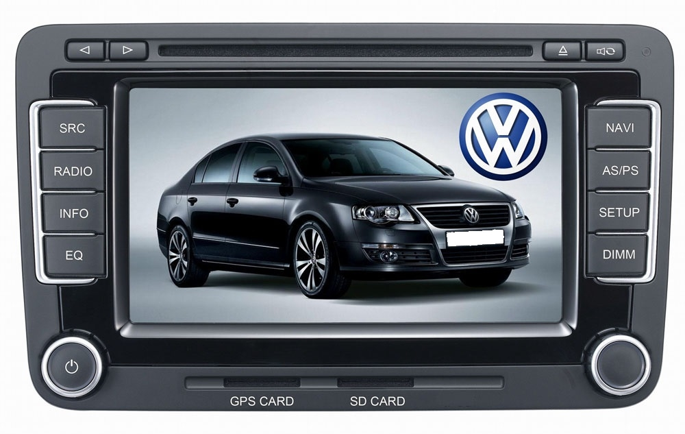 Autoradio AGW92 GPS DIVX DVD MP3 USB SD TV RDS Bluetooth IPOD  avec CAN BUS pour Volkswagen Jetta Golf V VI Passat Eos Tiguan Caddy Scirocco et Touran