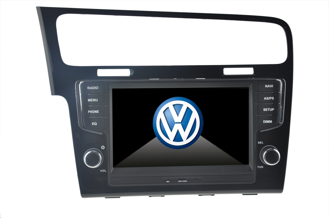 Autoradio HD GPS DIVX DVD MP3 USB SD RDS Bluetooth IPOD 8 pouces avec CAN BUS pour Volkswagen Golf 7