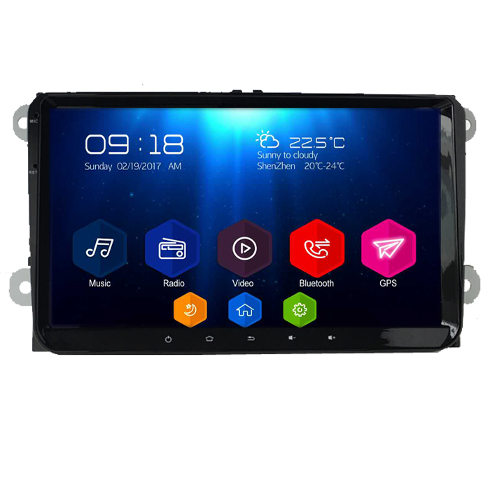 Autoradio AGW92 GPS WIFI 9 pouces DVD CD Bluetooth USB SD pour VOLKSWAGEN Scirocco Golf 5 6 Polo Passat B6 CC Jetta Tiguan Touran Sharan Eos Caddy (Android processeur 2GHZ)